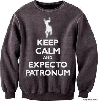 sweater harry potter hogwarts crewneck sweater neon color film keep calm shirt