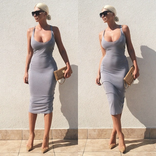 New Fashion Summer dress 2014 Elegant Celebrity Cotton Casual Bodycon Women Party Homecoming Bandage Dresses-in Apparel & Accessories on Aliexpress.com