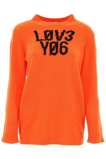 RED Valentino Intarsia Pullover in orange