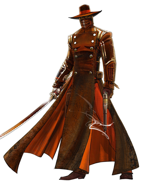 Steampunk swordsman