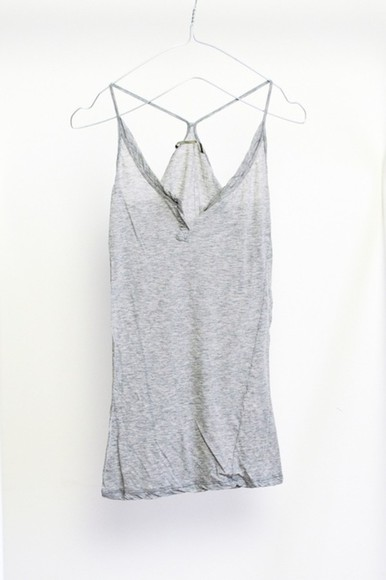 tank top grey top grey racerback tumblr