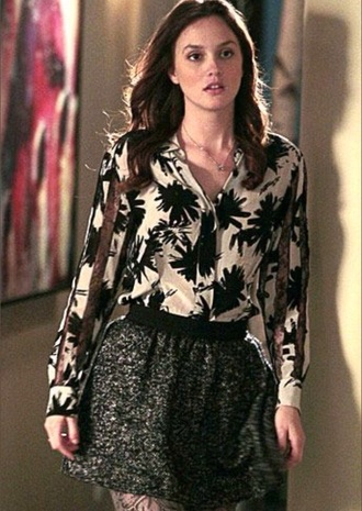 blouse skirt blair waldorf leighton meester gossip girl