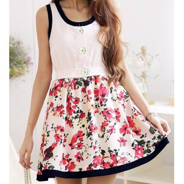 dress girly kawaii ulzzang floral