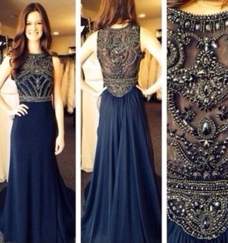dress prom ball home coming formal navy dress formal dress prom dress prom gown homecoming dress formal party dresses blue dress embellished dress gorgeous dress