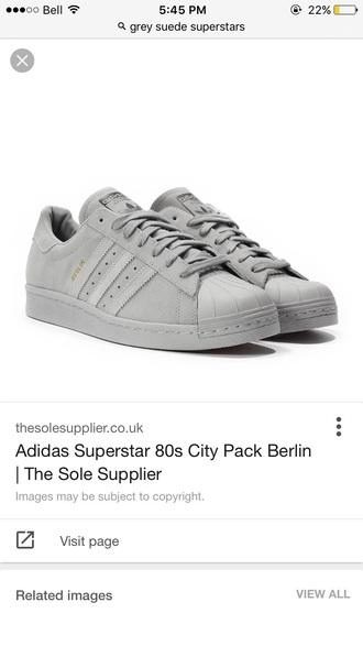 shoes grey superstars