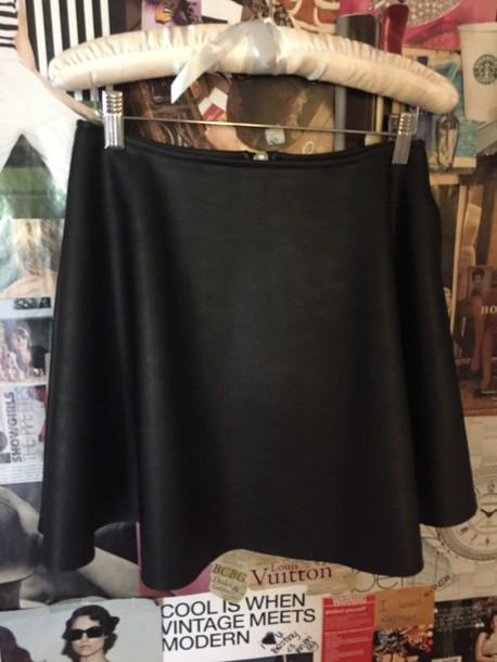 skirt black unif 100% pu