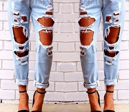 Talia Tattered Jeans – Dream Closet Couture