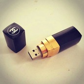 earphones,home accessory,channel memory,chanel,lipstick,usb flash drive,technology