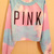 Retro rainbow color mixing letters PINK Printed Sweater BABHB / Fashion Designer