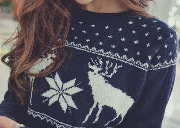 blue sweater girly girl winter outfits home sweatshirt scandinavian long hair long hair don't care brunette coldweather snow snowflake hot chocolate