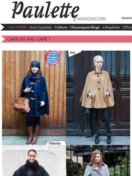 cape blue cape duffle coat Gloverhall gloverall asos