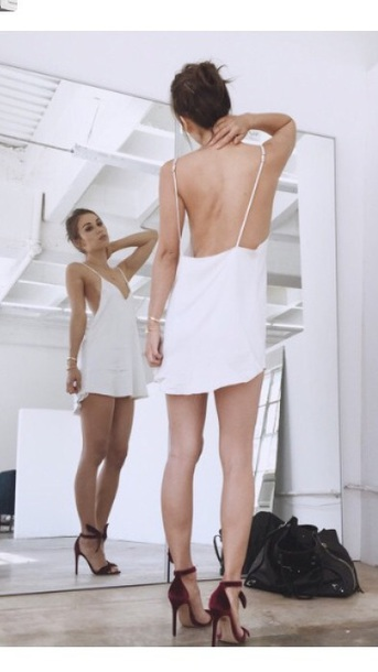 dress white swing dress