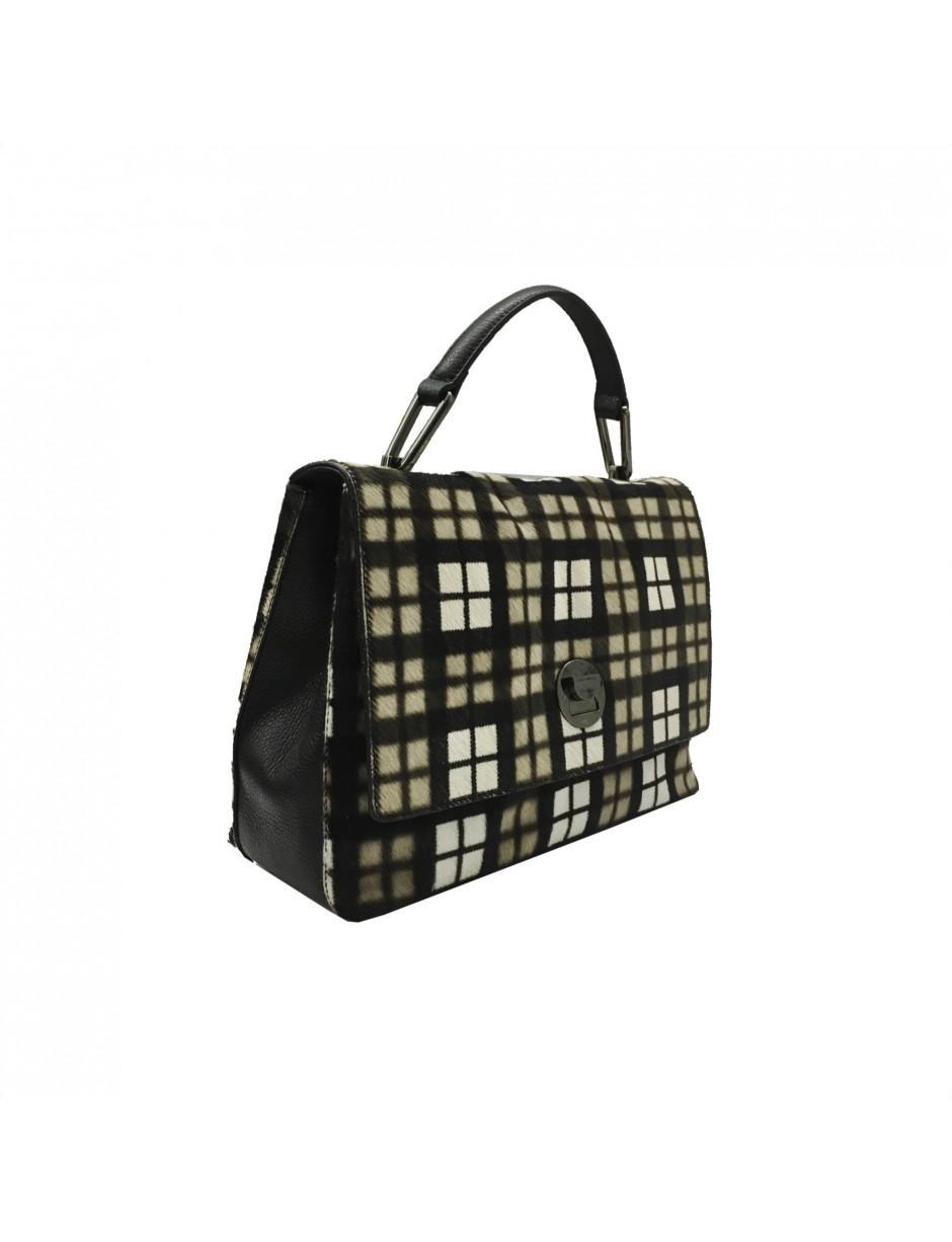 Coccinelle - Black Plaid Printed Bag - Lyst