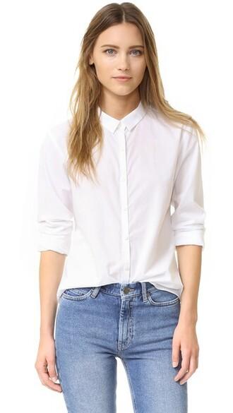 shirt blue shirt white blue top