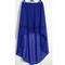R blue women lady chiffon hot sexy asym skirts waist maxi high low hem s 3xl | ebay