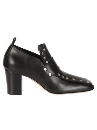 studded pumps black shoes