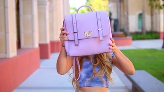bag backpack purple mamamiamakeup backto school back to school pastel bag