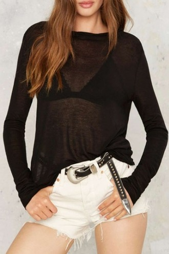 blouse girl girly girly wishlist black sheer see through