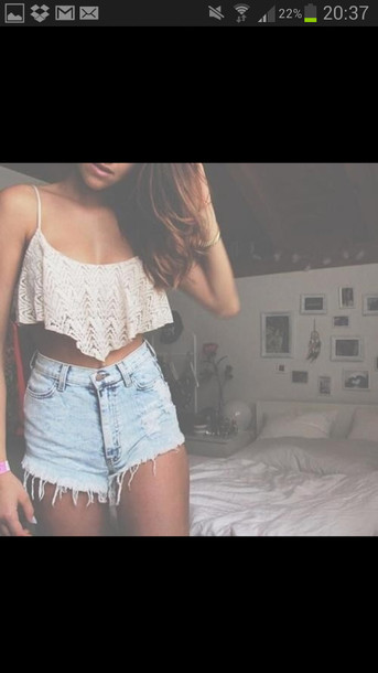 Shirt: tank top, shorts, high rise, high waisted shorts, high ...
