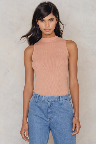 tank top top pink dusty pink