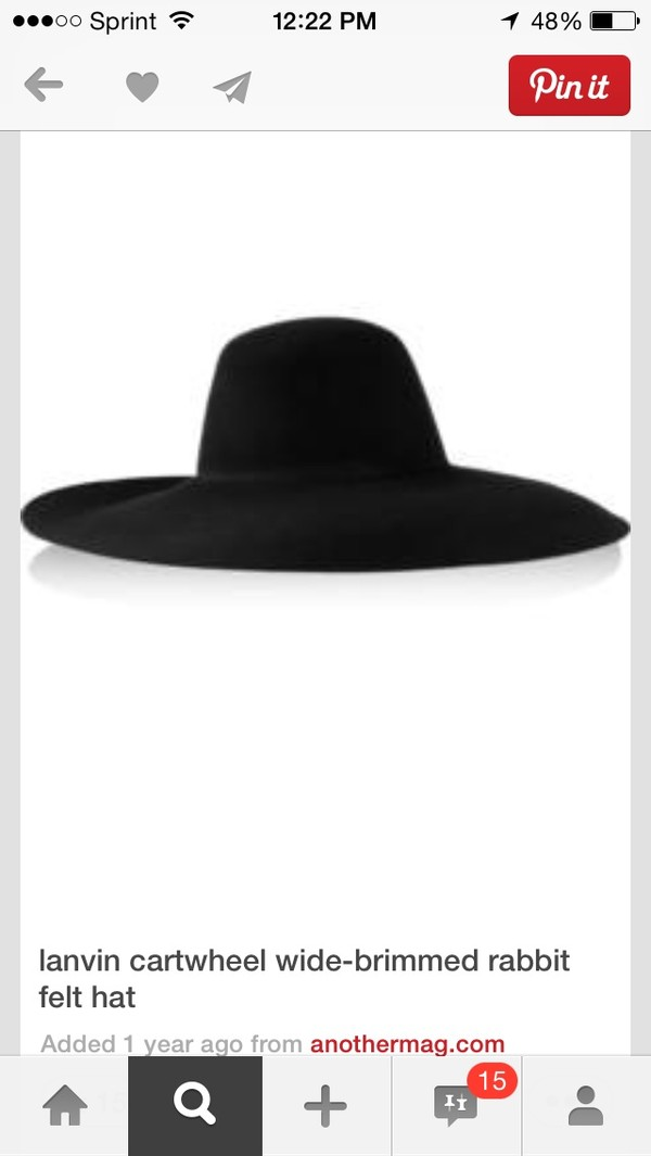 hat black wide brim fedora