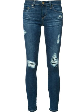 jeans cropped jeans cropped women ripped cotton blue