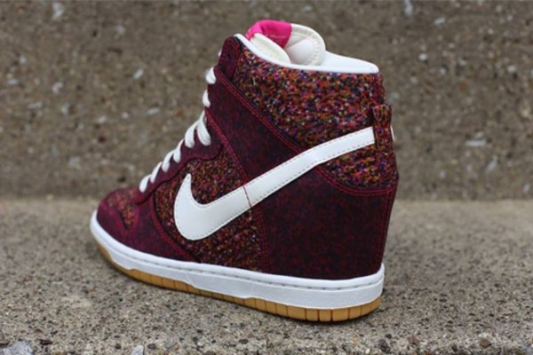 shoes nike wedge sneakers red burgundy nike x liberty