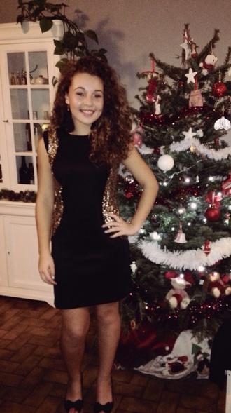 dress robe noir robe de soirée doré strass paillettes l noël