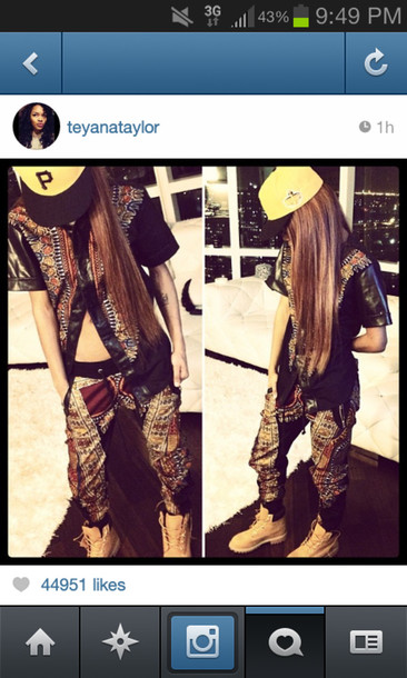 pants blouse hat shirt custom wheat timberlands fitted hat teyana taylor shoes joggers leather vintage jumpsuit outfit game jumpsuit jeans
