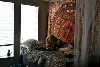 home accessory duvet bedding tumblr pillow college bed sheet or bed spread tapestry boho dorm room