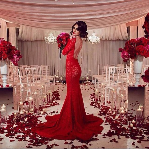 dress red dress red sexy dress sexy long dress prom dress long sleeves long prom dress long sleeve dress romantic lace dress