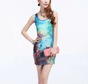 Posh'd official online boutique — galaxy fitted bodycon dress