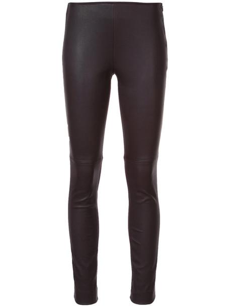 women spandex leather purple pink pants