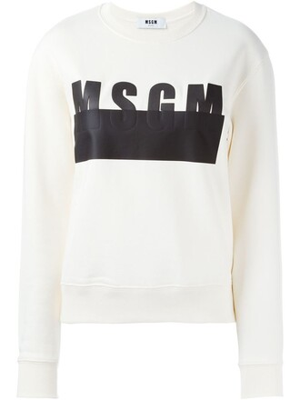 sweatshirt print nude sweater