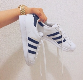 shoes adidas adidas originals superstarj superstar girl originals adidas superstars navy white stripes