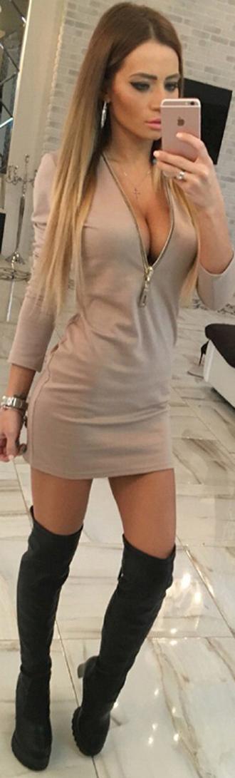 dress black dress boho dress dress corilynn prom dress red dress cute dress beige beige dress beige skirt zip zipper dress outfit outfit idea fall outfits tumblr outfit winter outfits office outfits lookbook streetwear