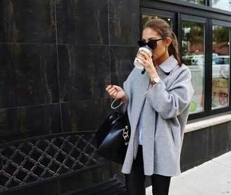 coat grey casual chic