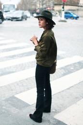 trop rouge,blogger,jeans,fedora,khaki,top,shoes,bag