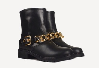 shoes giuseppe zanotti boots gold chain