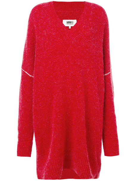 jumper oversized women spandex mohair wool red sweater