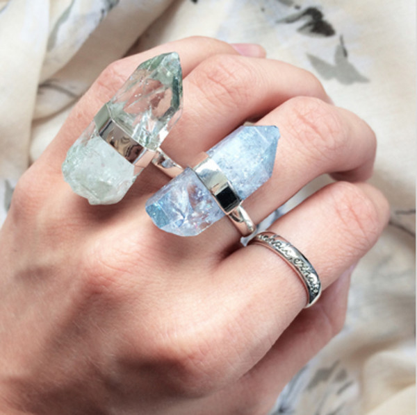 jewels ring ring crystal stone statement statement ring accessories jewelry jewelry jewelry rings dixi shop dixi festival festival festival boho bohemian gypsy gypset turquoise turquoise jewelry raw stone