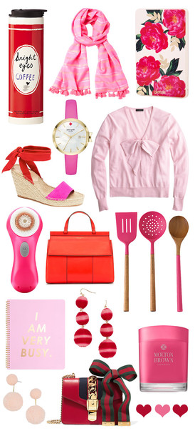 thecollegeprepster blogger scarf shoes jewels sweater bag pink mug travel mug all pink everything pink sweater wedges home accessory wedge sandals earrings bow j crew tory burch satchel bag