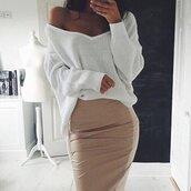 skirt,beige skirt,pencil skirt