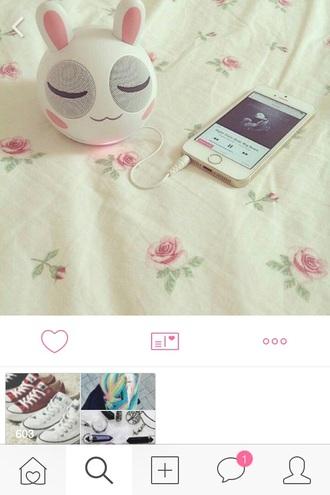 earphones technology cute kawaii bunny girly easter jacket