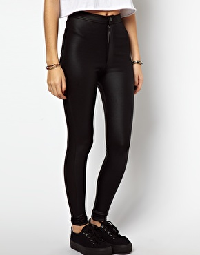 ASOS | ASOS Skinny Disco Pants in High Shine at ASOS
