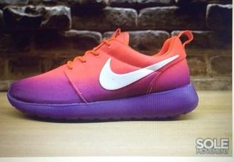 shoes pink nike nike roshe run nike running shoes purple running shoes women's shoes nike roshe run running shoes