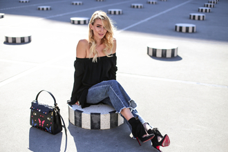 ohh couture blogger dress jeans shoes bag jewels