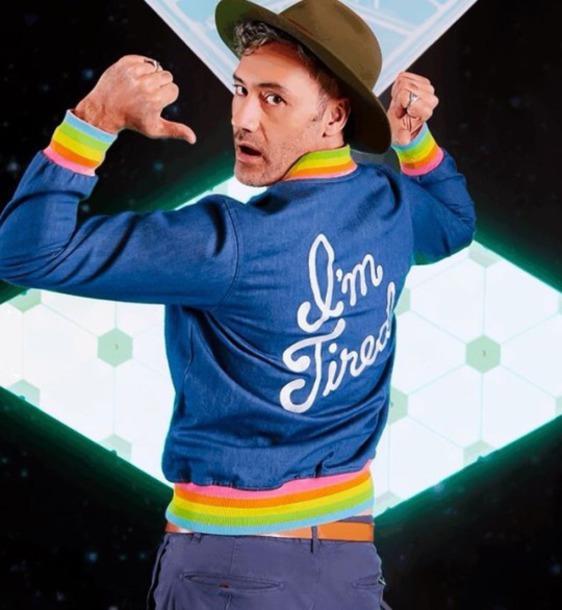 jacket rainbow blue