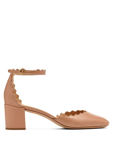 pumps leather nude shoes