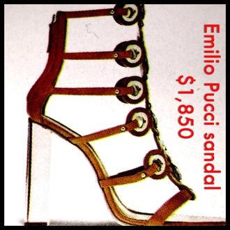 shoes emilio pucci sandals heels designer stylish style